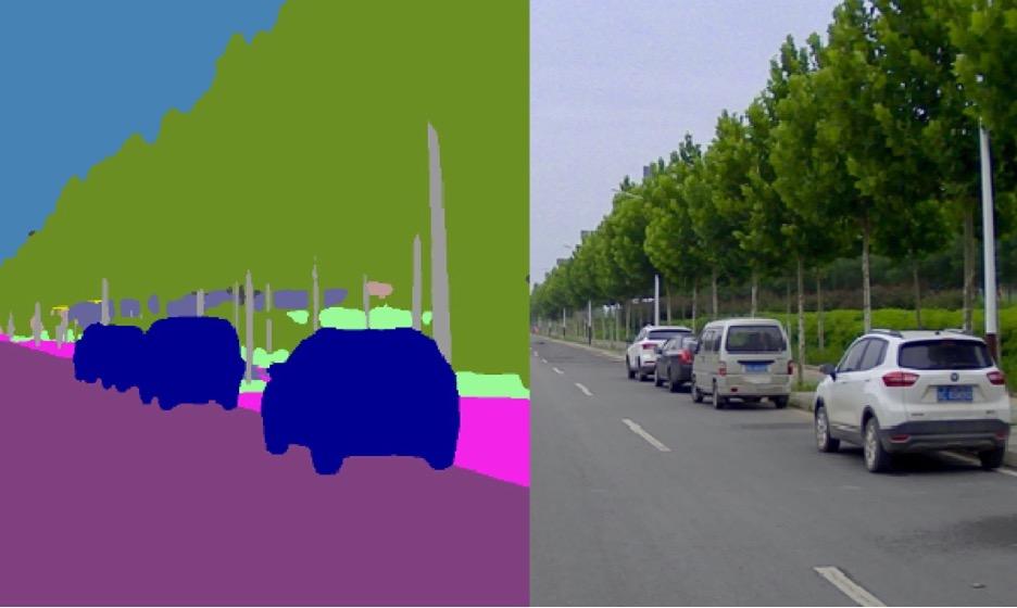 适用于自动驾驶车辆的图片标注工具 像素级全景实例分割